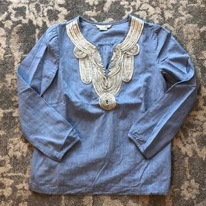 Boden Chambray Top
